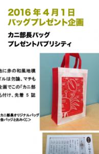2016年4月1日バッグプレゼント企画