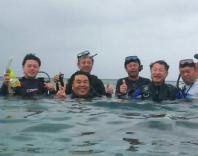 沖縄の海に潜っての活動